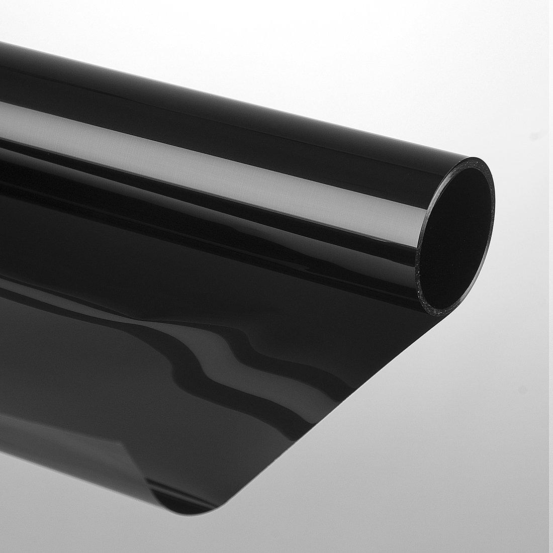 """Sonnenschutzfolie """"Extrem"""" 75 x 300 cm dunkelschwarz schwarz"""