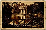 1926 Roma - Villa Borghese, Il Laghetto ann. Bieda Prestito Littorio - FP B/N VG Cartolina Postale