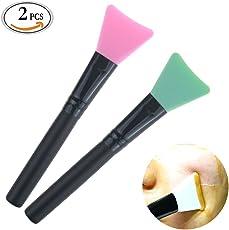 Maske Beauty Tool Soft Silikon Facial Mud Maske Applikator Facial Mud Maske Pinsel Silikon Pinsel, 2er-Pack