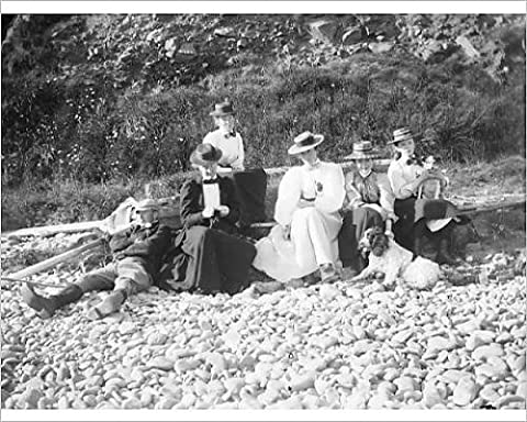Photographic Print of Family group on Newgale beach, Pembrokeshire, West