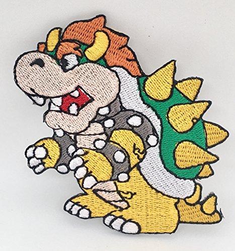 Bowser Patch Embroidered Iron on Badge Aufnäher Kostüm Cosplay Mario Kart/SNES/Mario World/Super Mario Brothers/Mario (Kostüme Super Bowser Mario)