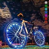 LED luci di ruota di bicicletta | Illuminazione Impermeabile per Copertone per bicicletta | Batterie di sicurezza a raggi luminoso | Accessori di ciclismo Cool ciclisti decorativi a cavallo la notte