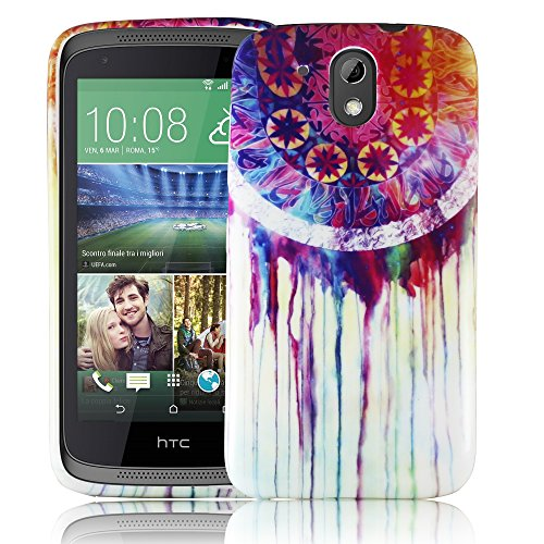 HTC Desire 526G TRAUMFÄNGER Silikon Silikon Schutz-Hülle weiche Tasche Cover Case Bumper Etui Flip smartphone handy backcover Schutzhülle Handyhülle thematys®