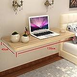 YANFEI an der Wand befestigter Holztisch, der rechteckige Küche und Speisetische-Schreibtisch-Frühstücks-Tabelle faltet (Größe : 120 * 40CM)