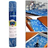 #8: HOKIPO PVC Anti Slip Mat Shelf Liner Roll, 30 x 150 cm, Flower Pattern, 1 Piece Set