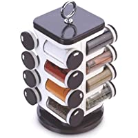 Ganesh Spice Rack Set for 16, Maroon