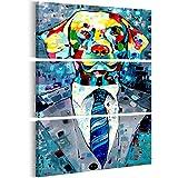 murando handgemalte Bilder Hund 80x120cm Gemälde 3 TLG g-A-0134-b-e