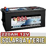 Solarbatterie 12V 220Ah Boot Wohnmobil Versorgungsbatterie wartungsfrei 180Ah 190Ah