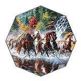 Brauch Horse-heart 100% Polyester Rohseide Wasserdicht Stoff stabil Aluminium Foldable Regenschirm Umbrella
