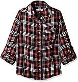 US Polo Girls' Shirt (UGTO5094_Black and Maroon_S FS)