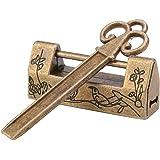 Hilitand Mini Chinese Stijl Traditionele Magpie Bloemen Hangslot Kleine Slot Sleutel Voor Vintage Meubels Hangslot Vintage (B