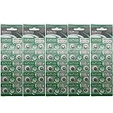 suncom Batería Uso Individual Lr721 Lr58 SR720 R58L L721 S12 Reloj Juguetes Cámaras mandos a Distancia (50 PC) del botón AG11 1.5V alcalina Celular