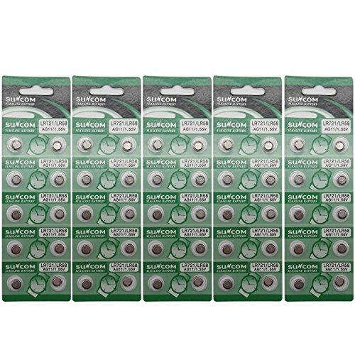suncom Batterie Single Use Lr721 Lr58 SR720 R58L L721 S12 Uhr Spielzeug-Kameras Fernbedienungen (50...