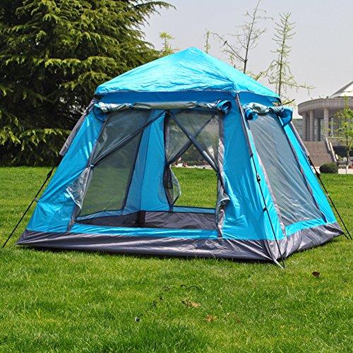 TY&WJ Campingzelt, Auto Geschwindigkeit Tipi Beach Quadratische Outdoor zelten Wandern Wasserdicht 3-4 personen-Blau 220x200x165cm(87x79x65inch)