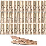 XXL Lot de 80pinces à linge 10cm grandes pinces à linge en bois Pinces à cheveux en bois XXL