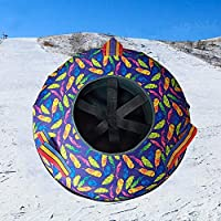 ZHAOK Trineo 80 cm de diámetro Inflatable Snow Tube Snow Tube for Winter Fun Inflatable, for Kids and Adults, Sturdy Sledding Tubes, Easy To Grip Handles,d