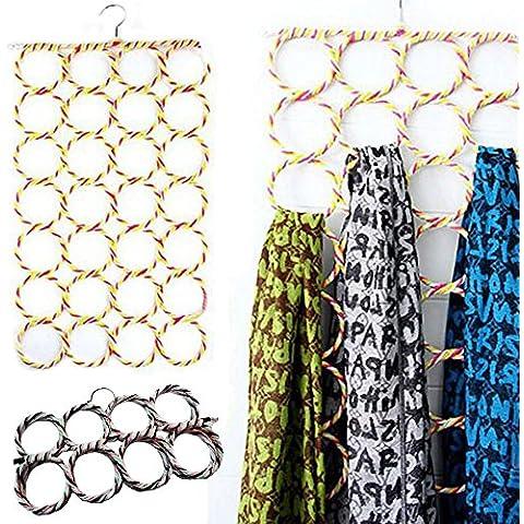 Multi sciarpa Hanger Multi Display appendere cravatte cintura organizzare Circle sciarpe supporto UK–alta qualità Sciarpa organizzare supporto ideale per NEGOZIO o il tuo guardaroba–Salva Spazio
