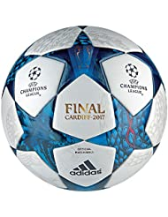 Adidas Finale Cardiff 17 - Ballon de Foot Officiel - Blanc/Bleu/Cyan