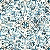 Wallpops Fp2477Fontaine Peel et bâton dalles de sol, DE Bleu, Lot de 10pièces