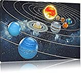 Sistema solare nella sezione Formato: 60x40 su tela, enorme XXL Immagini completamente Pagina con la barella, stampa d'arte su murale con la struttura, più economico di pittura o pittura ad olio, nessun manifesto o poster