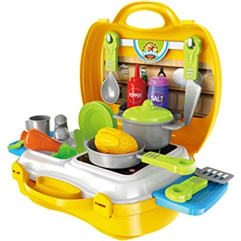 Mini Cucina Giocattolo Set cuoco in Valigetta con Accessori Giochi ...