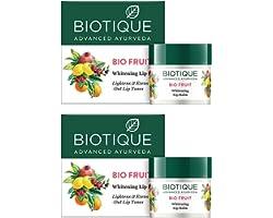 Biotique Bio Fruit Whitening Lip Balm, 12g (Pack Of 2)