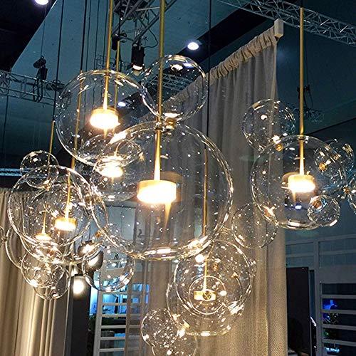 GaLon Nordic Restaurant Bubble Ball LED Kronleuchter Bar Fenster Galerie Wohnzimmer Lampe Kreative Glas Bean Magische Molekulare Kronleuchter (Color : 6 Ball)