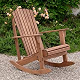 Plant Theatre Adirondack Hardwood Rocker - Superb Quality - Fathers Day Gift Idea