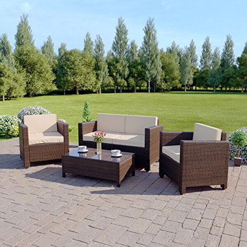 Abreo Garden Rattan Furniture Patio Set 4 Seater Review