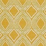 Fabulous Fabrics Dekostoff Halbpanama Ornamente 4 - senf -
