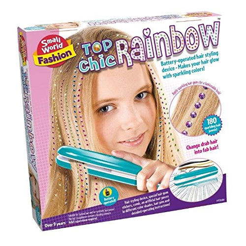 Create Your Own Hair Fashion Top Chic Rainbow - Best Friends Activity Kit - New for 2015 Creative - Fun Hair Accessories Gift Present Idea For Stocking Fillers, Christmas Xmas Idea Age 9+ Girl Girls Kids Children Child