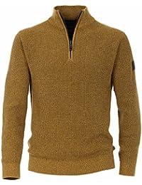 CASAMODA Troyer Langarm Reißverschluss Baumwolle senfgelb