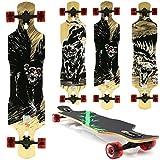Miganeo Longboard 108x24,5 Long Board Skateboard Surfboard komplett Flex Longboards (103 Blood Monkey)