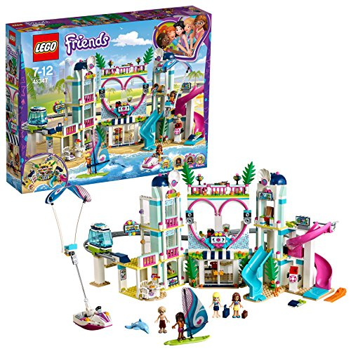 LEGO Friends Resort de Heartlake City 41347 Juguete de Construcción de Hotel Divertido y Popular (1017 Piezas)