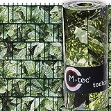 Sichtschutzstreifen mit Motiv ✔ M-Tec Print/PVC / Aukube Hecke ✔ für 3 Reihen im Zaunfeld ✔ inkl. 6 Klemmschienen ✔ - Sie KAUFEN Hier DIREKT Beim Hersteller -
