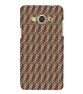 Arrow Multicolor Chevron 3D Hard Polycarbonate Designer Back Case Cover for Samsung Galaxy J3 Pro