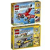 Lego Creator 3-in-1 2er Set 31047 31060 Propeller-Flugzeug + Flugschau-Attraktionen