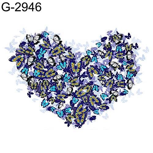 mAjglgE 30 x 40 cm Herz Boot See Nacht Kreuzstich Basteln DIY Full Round Diamant Gemälde, mehrfarbig, G-2946 -