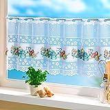 """Bistrogardine """"Küchenchef"""" Vorhänge Fensterbedeckung Sichtschutz Fenstergardine Sonnenschutz Scheibengardinen"""