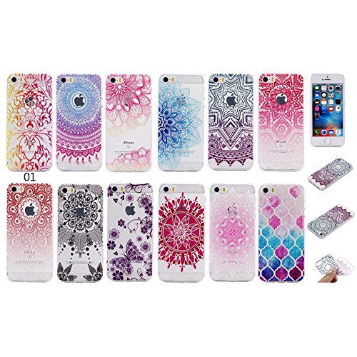 For IPHONE 5S/SE[COLORFUL TPU DTV2]Scratch-Proof Ultra Thin Rubber Gel TPU Soft Silicone Bumper Case Cover -DTPUV202 DTPUV204