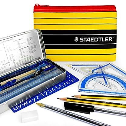 Staedtler Noris Club Estuche Matemáticas Juego – Esencial Escuela y Instituto Matemáticas Juego – With Matching Staedtler Estuche