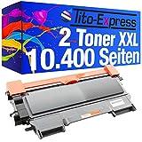 2 Toner Mega XXL PlatinumSerie Black kompatibel für Brother TN-2010, 5.200 Seiten, Laser