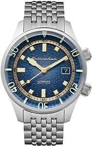 SPINNAKER Men's Bradner 42mm Steel Bracelet & Case Automatic Blue Dial Analog Watch SP-5062-22
