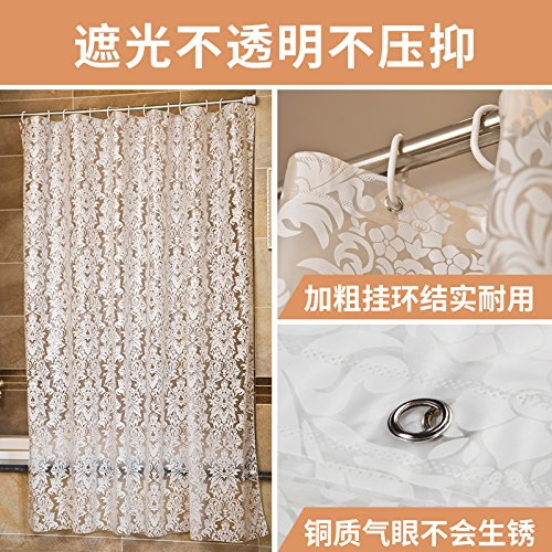 MDRW-Wasserdichte Schimmel Bad Duschvorhang Schattierung Dicke Trennwand Muster Transparente Verfügbaren Duschvorhangw240 * H200