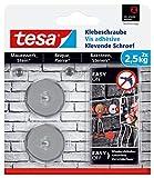 tesa Klebeschraube für Mauerwerk und Stein, Halteleistung 2,5 kg, rund, 2 Stück