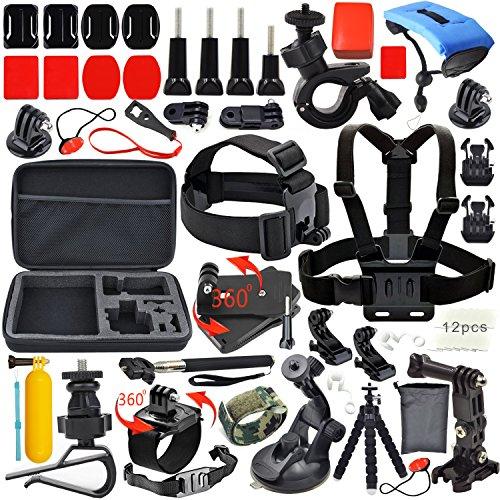 Erligpowht 33-En-1Sports de Plein Air Kit d'accessoires Pour SJ4000 SJ5000 de l'appareil photo numérique et GoPro Hero 4 Hero 3+ Hero 3 Hero 2 1