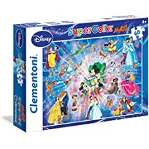 Clementoni 26407 - Puzzle SuperColor Disney Classic, 60 Pezzi