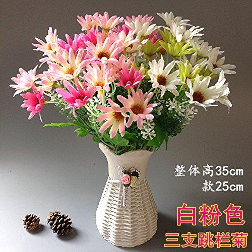 Emulation Kit (Lx.AZ.Kx Continental Künstliche Blumen Blume Emulation Kit mit Blumen, Tisch Wohnzimmer Couchtisch Ornamente auf Blumen aus Seide Spinnen kleine Topfpflanzen,F)
