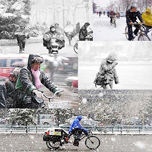 Vbiger Chapkas Chaud en Plein Air Coupe-Vent Chapeau d'hiver pour Moto Ski Vélo Beige
