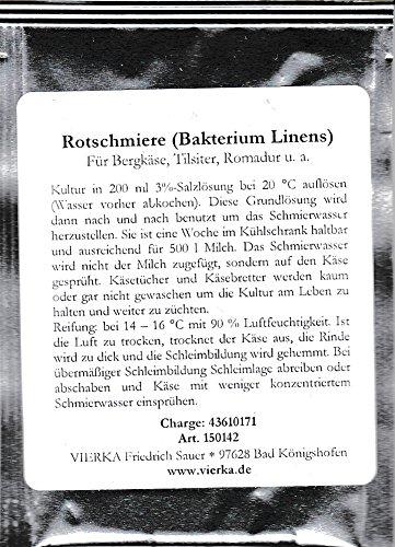 Rotschmiere ( Bakterium Linens) Kultur für Bergkäse, Tilsiter, Romadur u.a.